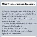 Biblereader: synchroniseren met je online account
