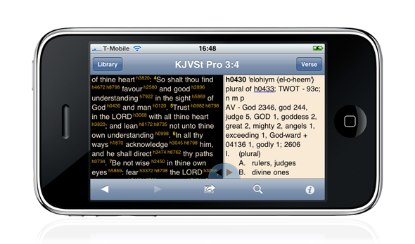 BibleReader (iPhone) splitscreen