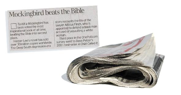 Bijbel niet meer meest inspirerende boek