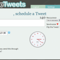 futuretweets schedule a tweet
