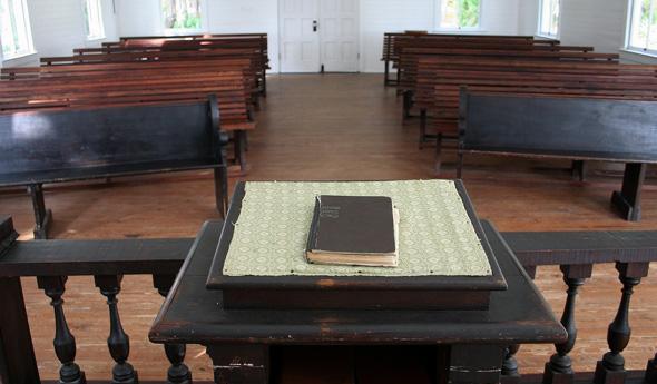 oude preekstoel