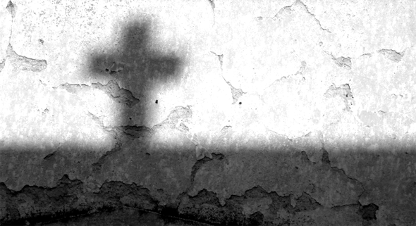 schaduw van het kruis