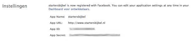 Instellingen in Facebook