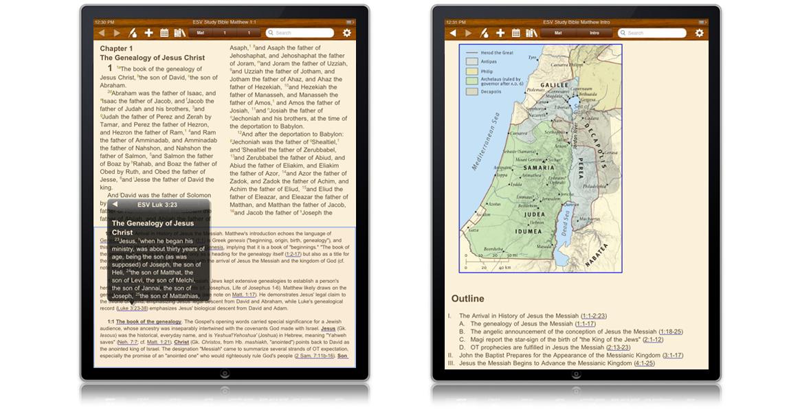 Olivetree iPad