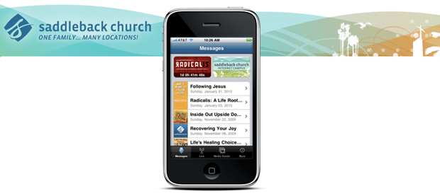 Saddleback Church iPhone app