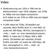 iPad video specs