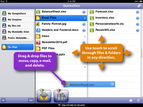 Quickoffice Connect Mobile Suite for iPad