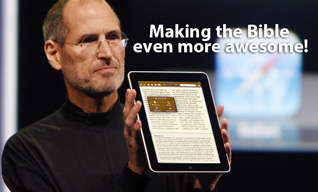 steve jobs and biblereader for iPad