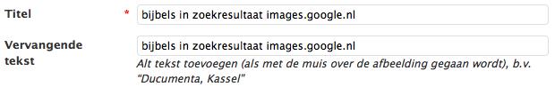Titel en Vervangende tekst afbeeldingen in WordPress