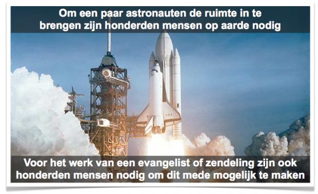 voorbeeld raket en team nodig