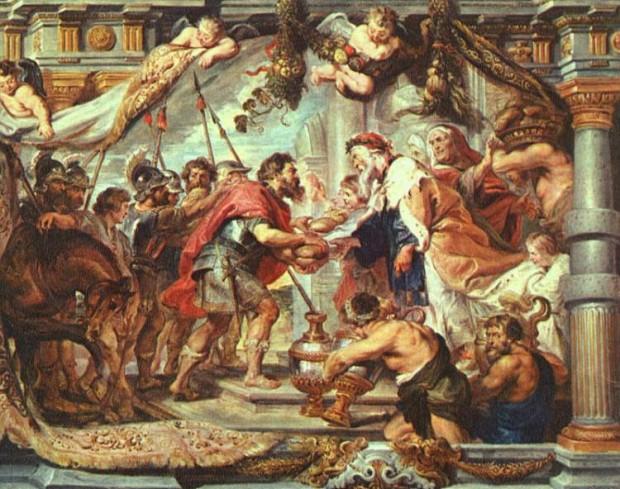 De ontmoeting van Abraham en Melchizedek, schilderij van Peter Paul Rubens (1577 – 1640)
