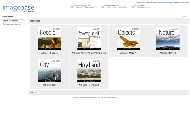Screenshot van ImageBase