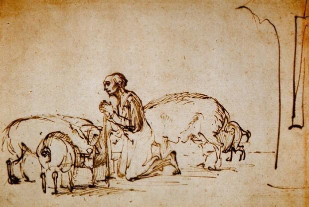Rembrandt - de verloren zoon bij de varkens