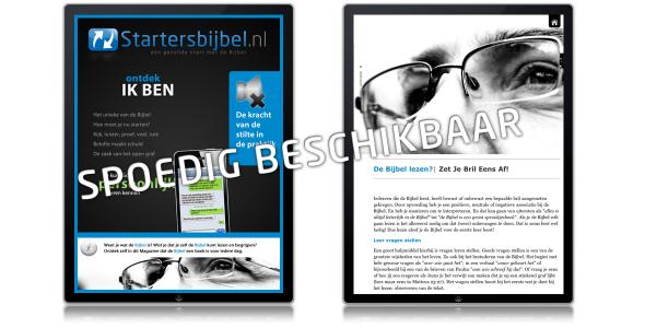 Startersbijbel iPad Magazine - spoedig beschikbaar