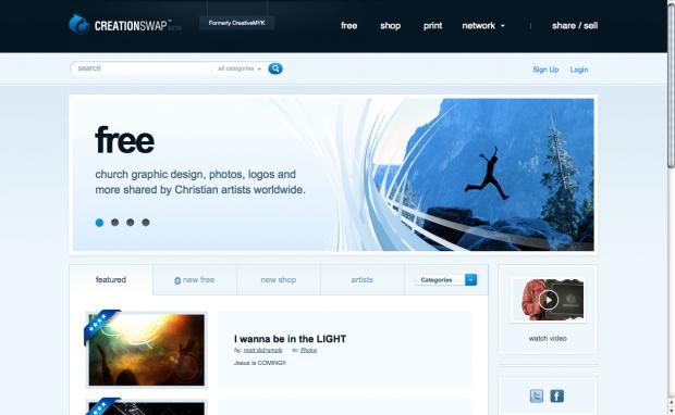 Screenshot van creationswap.com