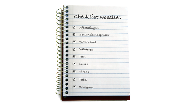 checklist websites