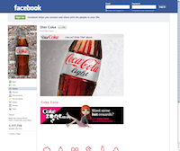 Facebook page Dietcoke