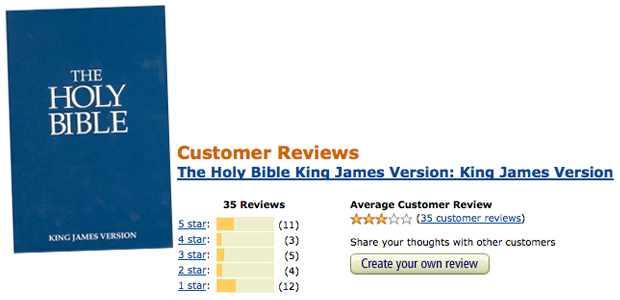 Bible Review op Amazon.com