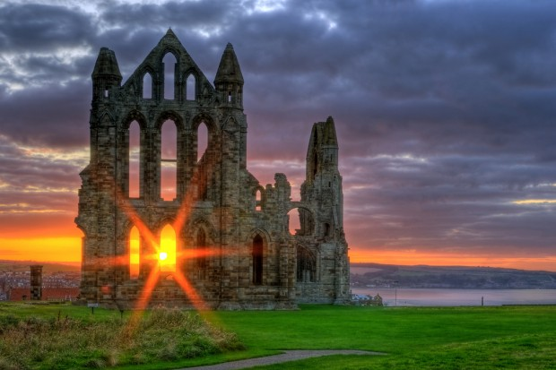 Whitby Abbey Sunset