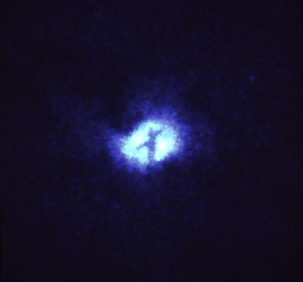 """X"" Structure at Core of Whirlpool Galaxy (M51)"