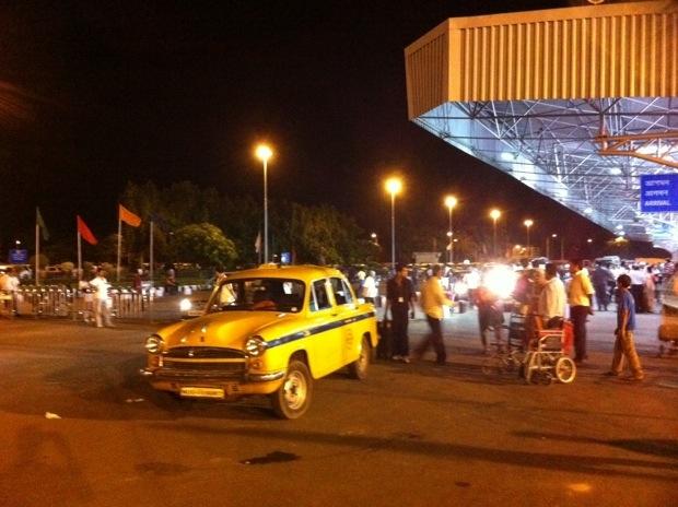 Calcutta Airport aankomst
