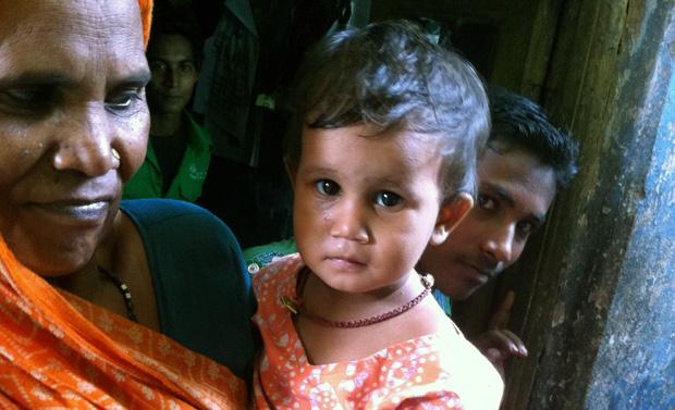 Moeder en nichtje van Rajesh