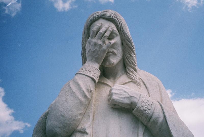 Jezus huilt