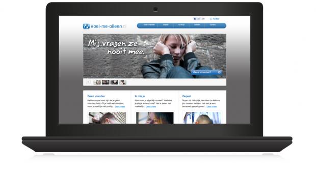 voelmealleen.nl in laptop