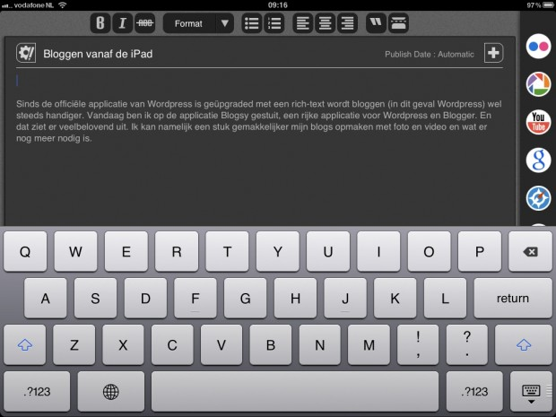 Blogsy for iPad