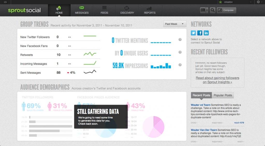 Dashboard sproutsocial.com