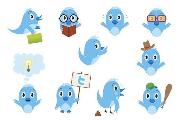Twitter vogeltjes