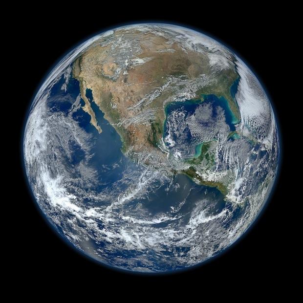 Aarde (door NASA satelliet) medium