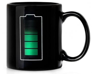 Batterij niveau koffiemok
