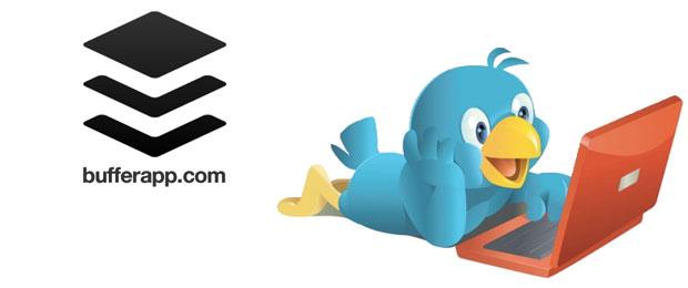 Buffer app en Twitter