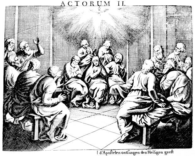 De leerlingen van Jezus ontvangen de heilige Geest