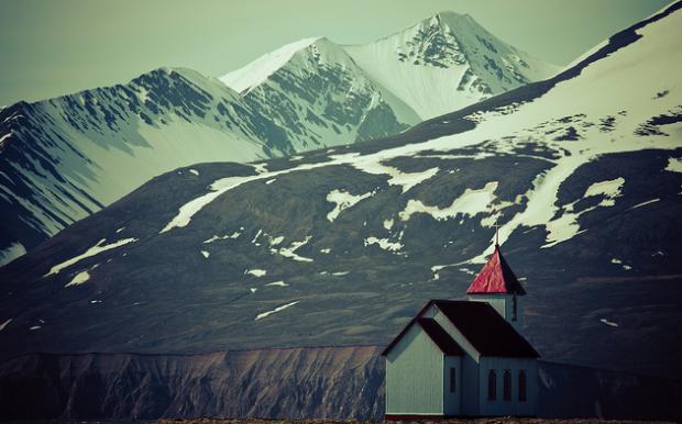 Church at Flatey Island, Iceland
