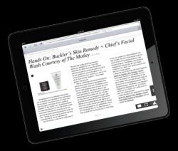 onswipe op iPad