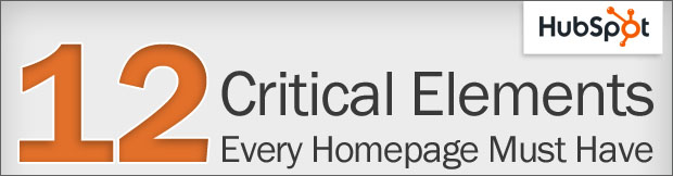 12 critical elements homepage must have