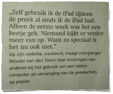 RD bericht over iPad onderzoekje