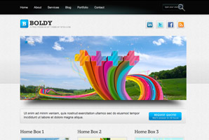 Boldy WordPress template
