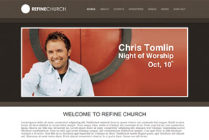 Refine Church WordPress Template