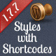 Styles with Shortcodes for WordPress