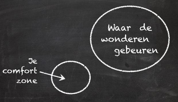 Je comfort zone vs. de plek waar de wonderen gebeuren
