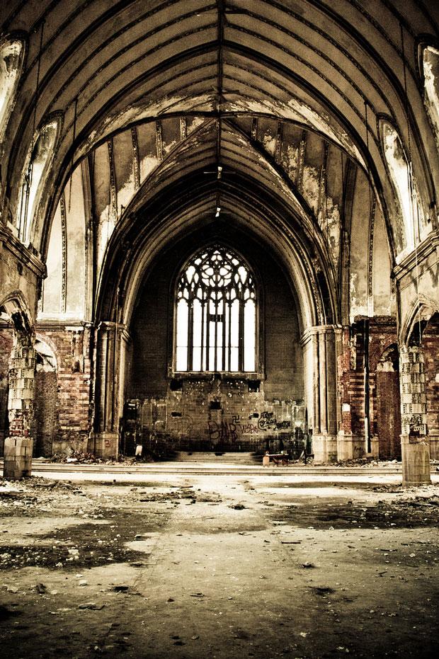 Verlaten kerk uit Detroit