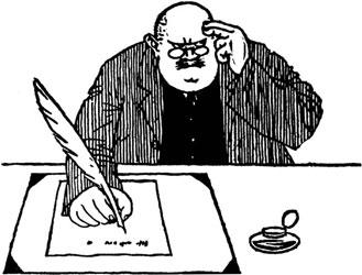 schrijver aan bureau