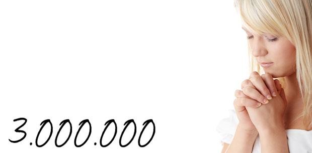 3 miljoen gebeden