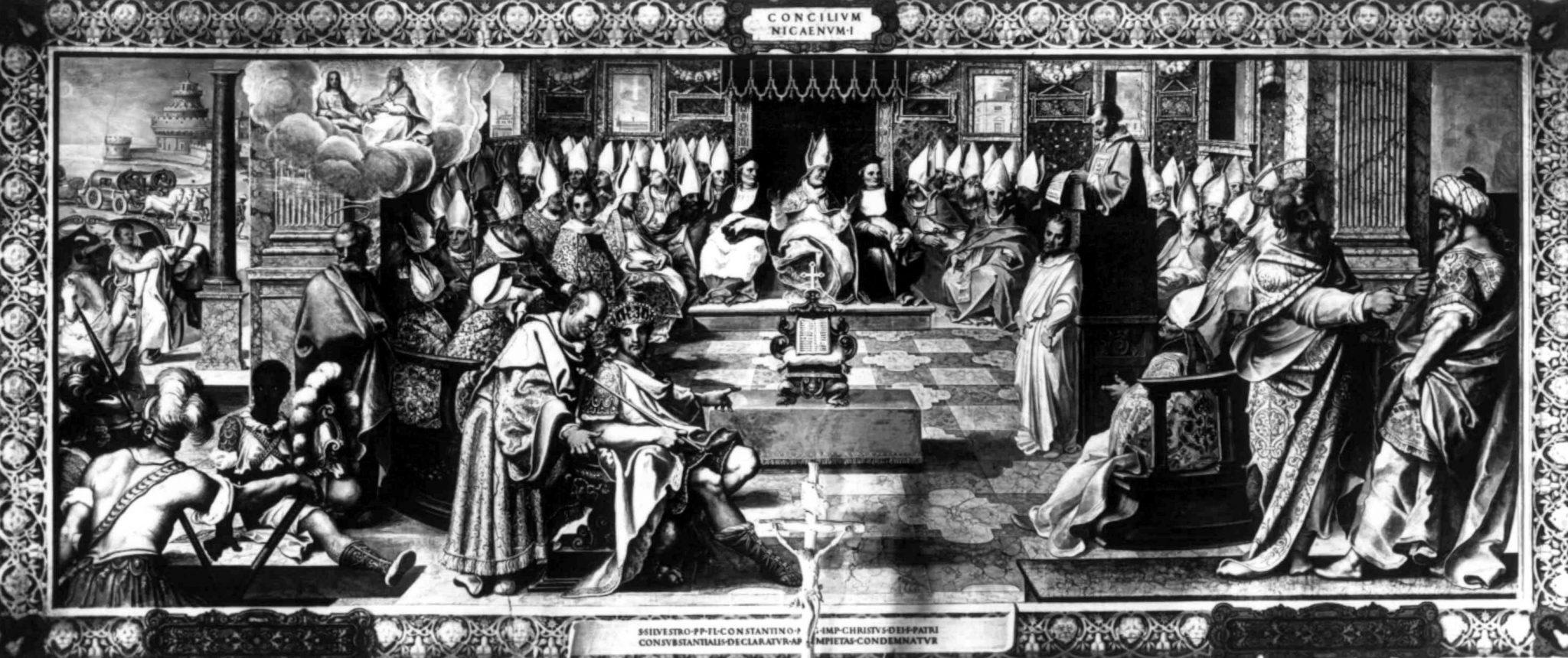 concilie van Nicea (hier werd geloofsbelijdenis vastgesteld)