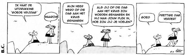 Cartoon over 'Goede Vrijdag'