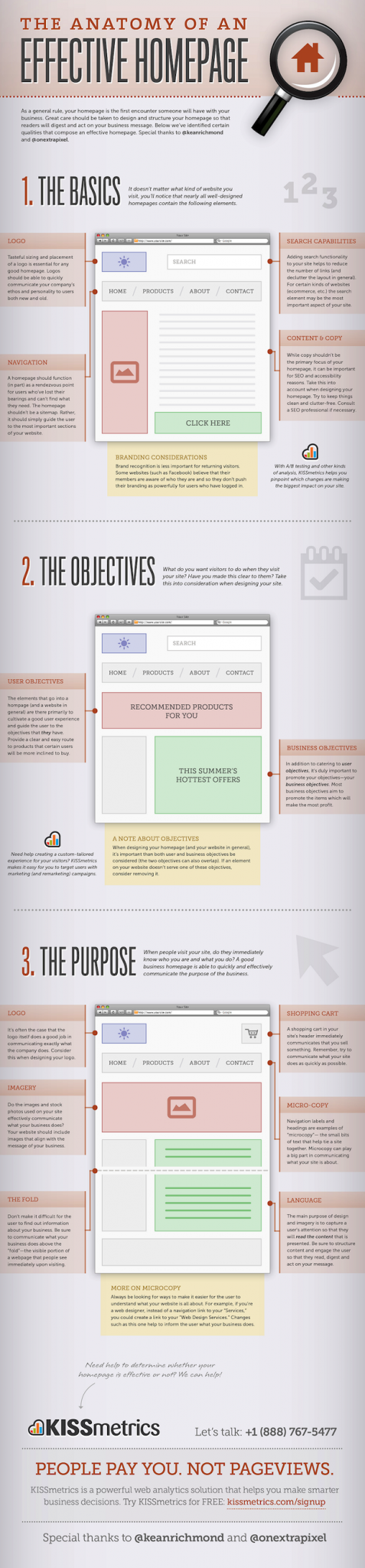 effective homepage infographic
