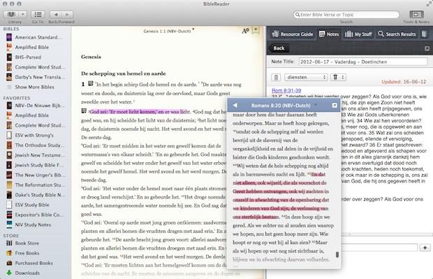 BibleReader met NBV op Mac